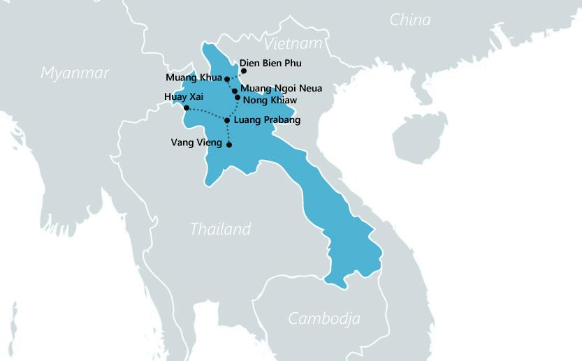 reisroute laos