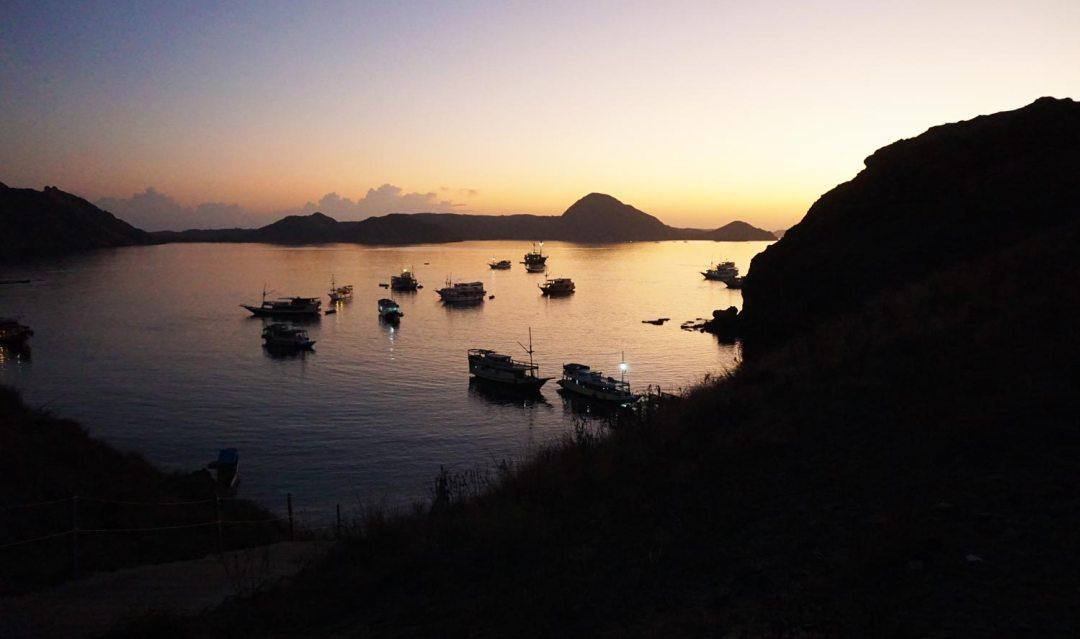 Zonsopgang-Padar-eiland