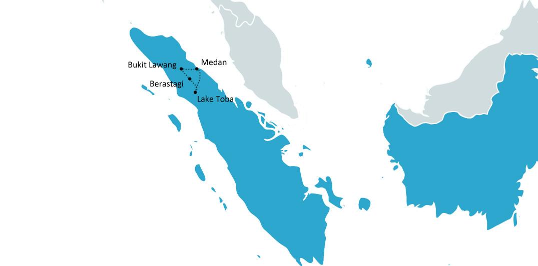Reisroute noord-sumatra indonesie