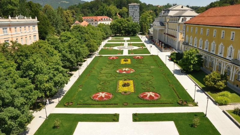 rogaska slatina, fietspad, bron Terme Olimia, mijn slovenie