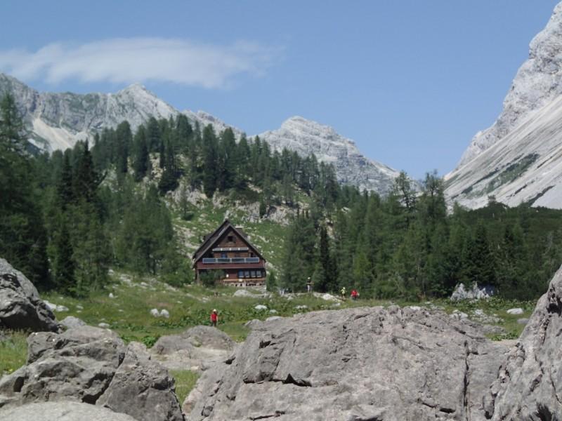 berghut Slovenie julische Alpen