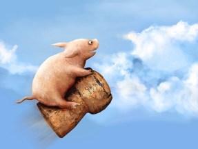 空を飛ぶ豚ちゃん