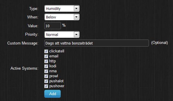 Domoticz mailnotifiering