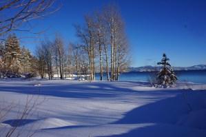 レイクタホ、雪景色