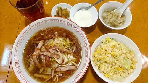 チャーシュー麺&半炒飯