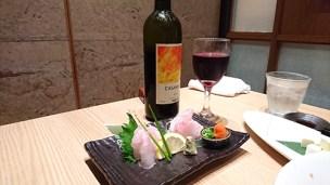 ワインと刺身