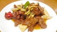 桂宮:横浜中華街お得ランチFile.92/牛肉のオイスター炒め