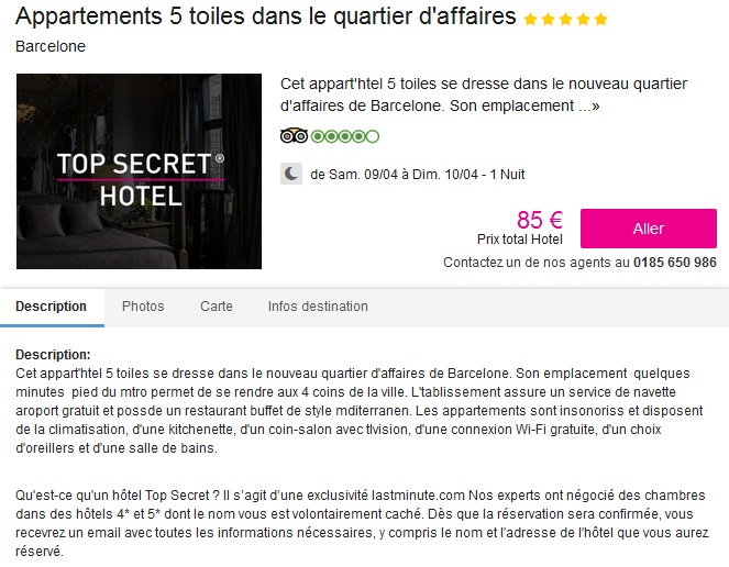 Hôtel Top Sercret