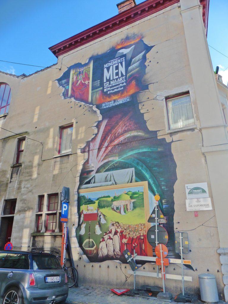 peinture, rue, Gand