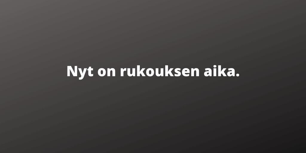 Rukous Suomen puolesta