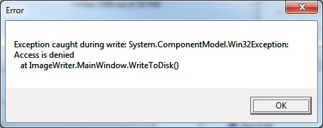 'system.componentModel.Win32Exception:Access is denied' error