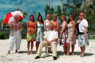 Chris and the women of the wedding