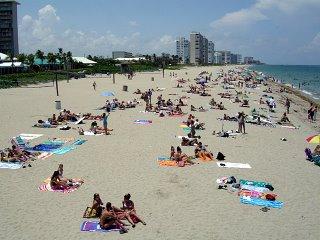 The beach wasn