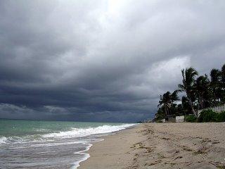 Rain coming in off the ocean
