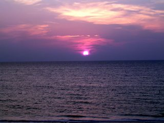 Sunset on the beach near Clearwater Florida