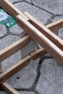 PakYak foldable Kayak frame detail