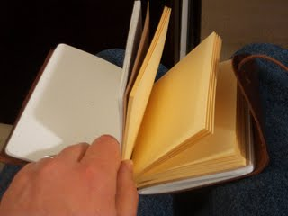 The pages in my journal