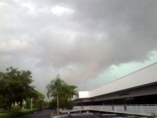 Nasty storm in Tampa Bay Florida