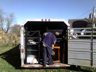 Moving using a cattle trailer works well