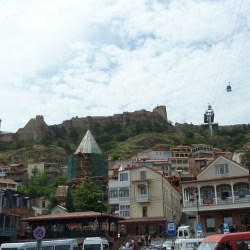 The traffic-busy Gorgasali square used to be the town center. Narikala fortress is up on the hill