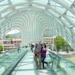 Not only visually appealing, the bridge also provides literally a breathe of fresh air in a heavily polluted city