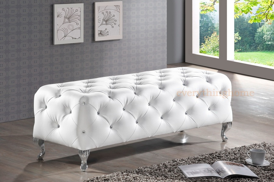 Superior White Bedroom Bench #7: Features Contemporary Black Or White Bedroom Bench Or Entryway Bench