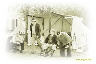 1 sepia picture in tent