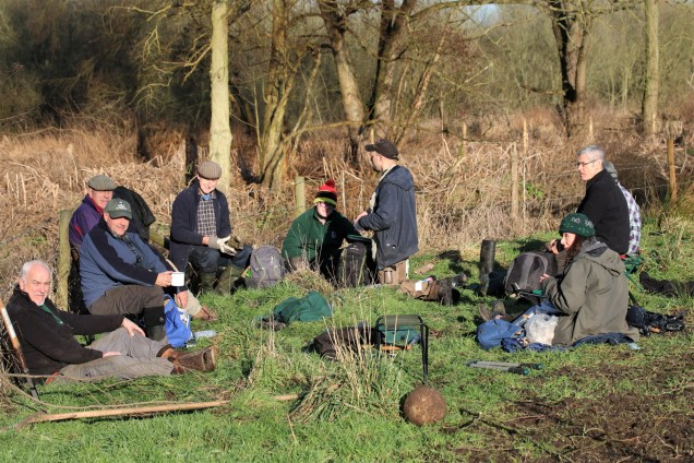 You can't beat a hearty -2 degrees Centigrade al fresco lunch by the river in the corridor to the tenant farmer's field.