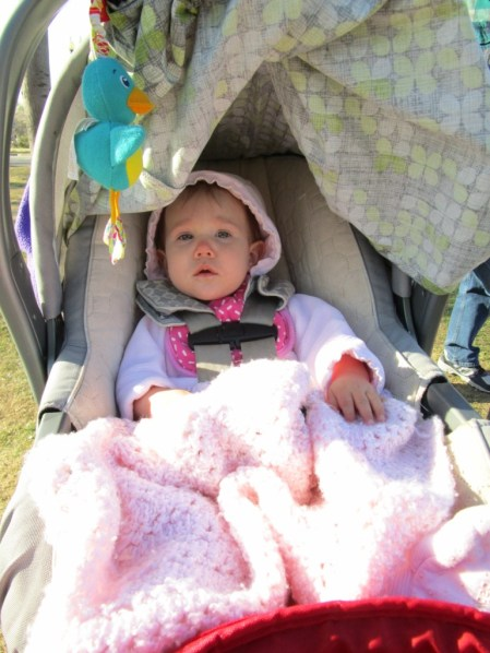 Adriana bundled up