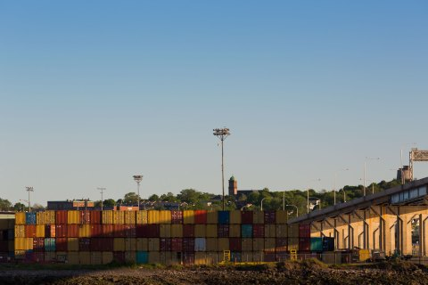 Port Containers at the Saint John Port