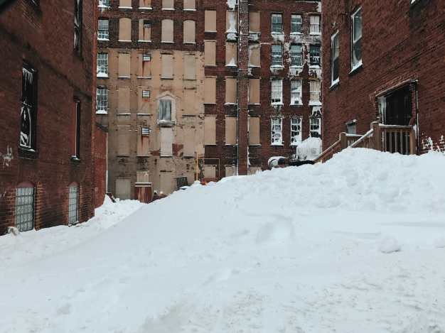 A Pile of Snow on Grannan Street Photograph