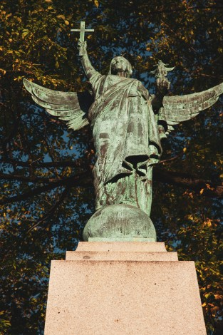 Angel on Glorious Dead Statue Saint John Photograph