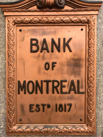 Bank of Montreal Sign King Street Saint John Photograph