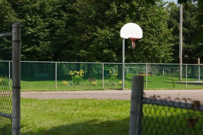 Basketball Net in South End Saint John Photograph