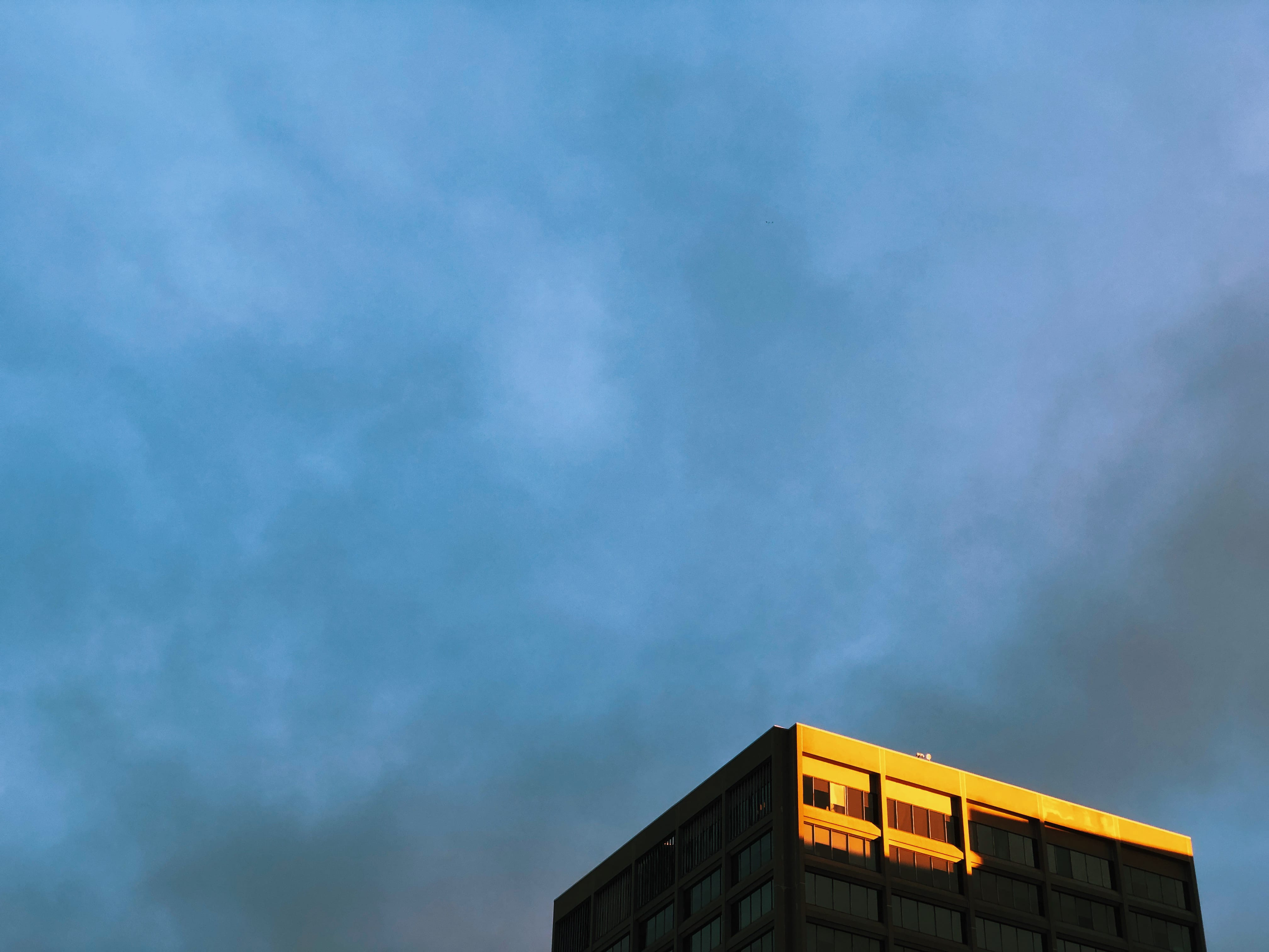 A photograph depicting Bell Aliant Building Golden Hour Highlight