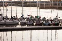 Boats Docked in Front of Harbour Bridge Saint John Photograph