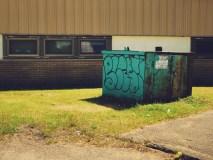 Dumpster at Forest Hills School Saint John Photograph