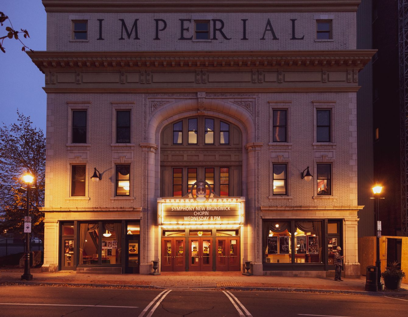 Click thumbnail to see details about photo - Imperial Theatre Front at Dusk Medium Format Photograph
