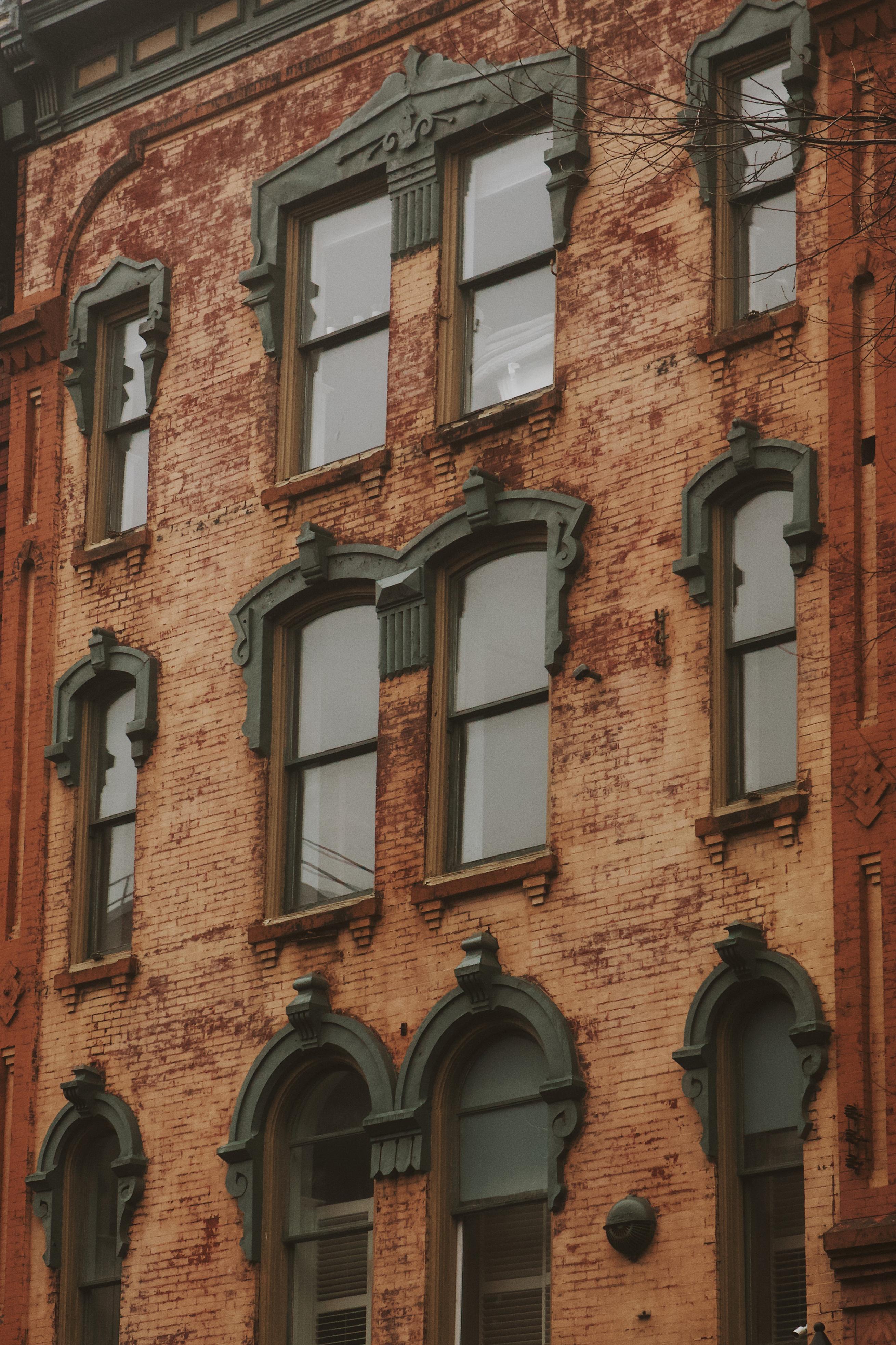 A photograph depicting Prince William Street Building Closeup