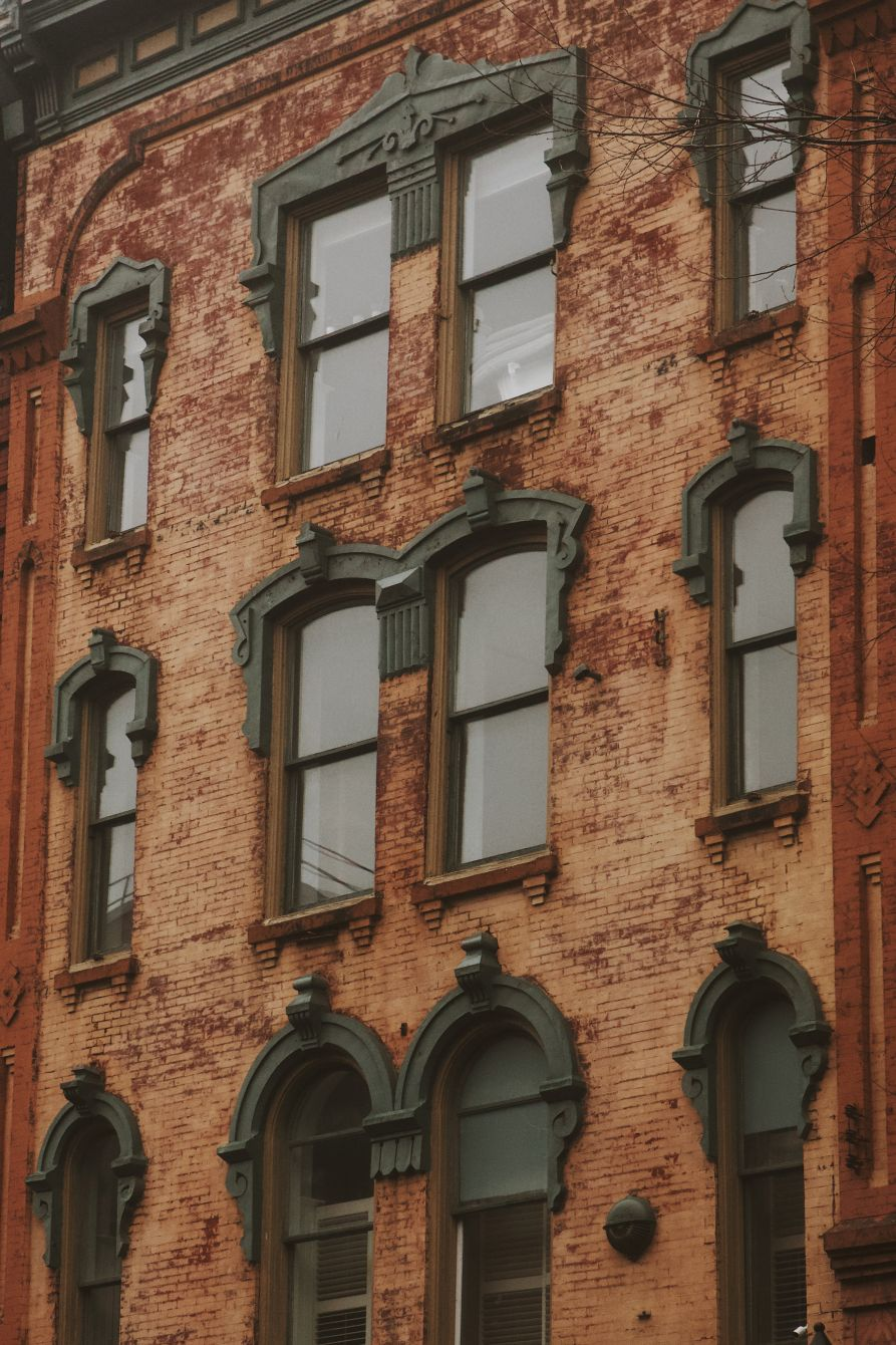 Click thumbnail to see details about photo - Prince William Street Building Closeup Photograph