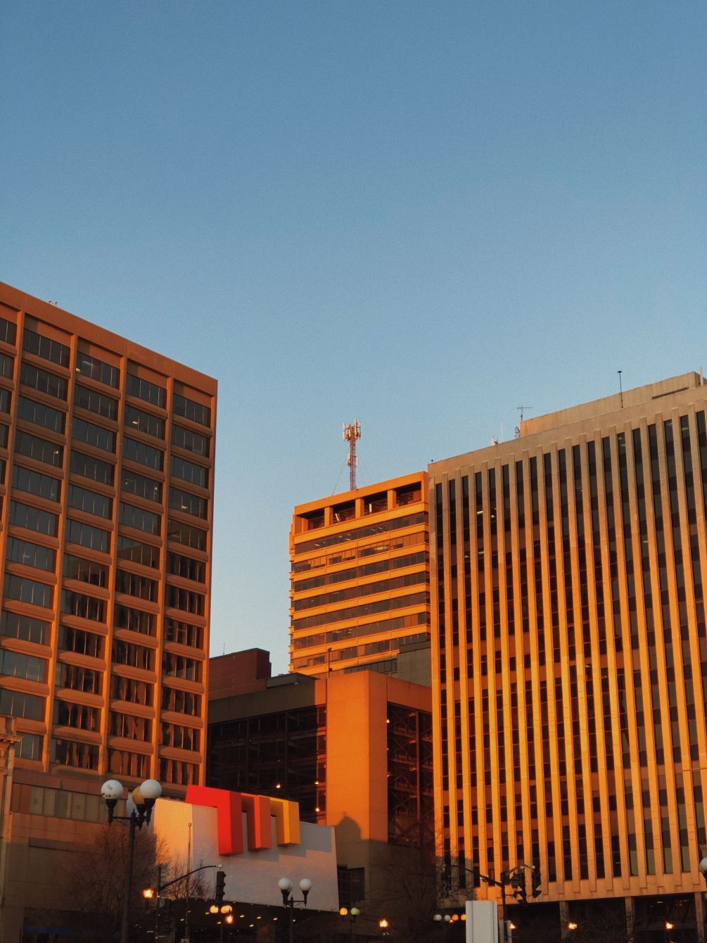 Click thumbnail to see details about photo - Saint John Buildings in Morning Light Photograph