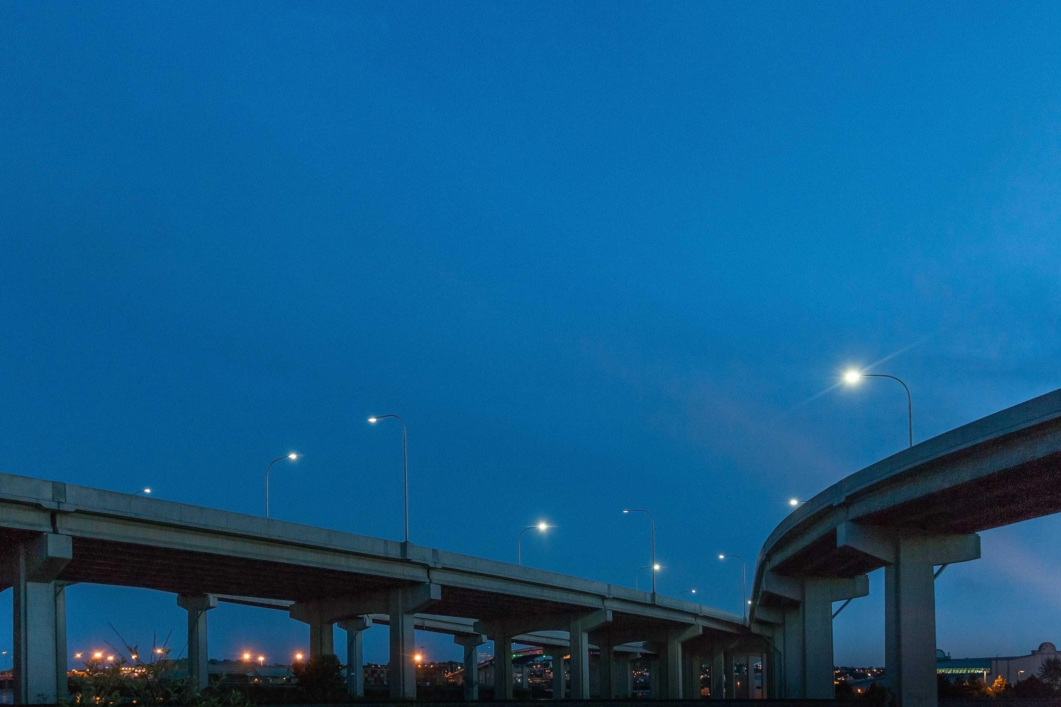 A photograph depicting Saint John Harbour Bridge at Night