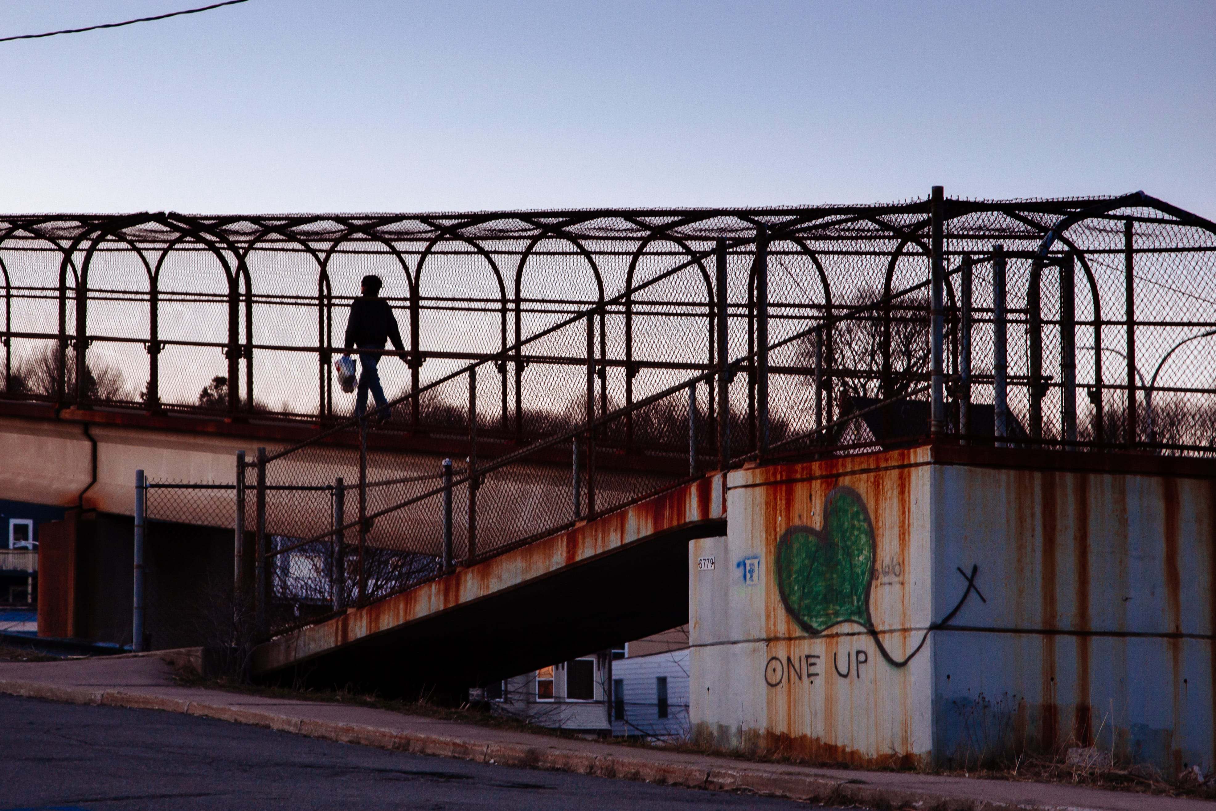A photograph depicting Highway Overpass Saint John