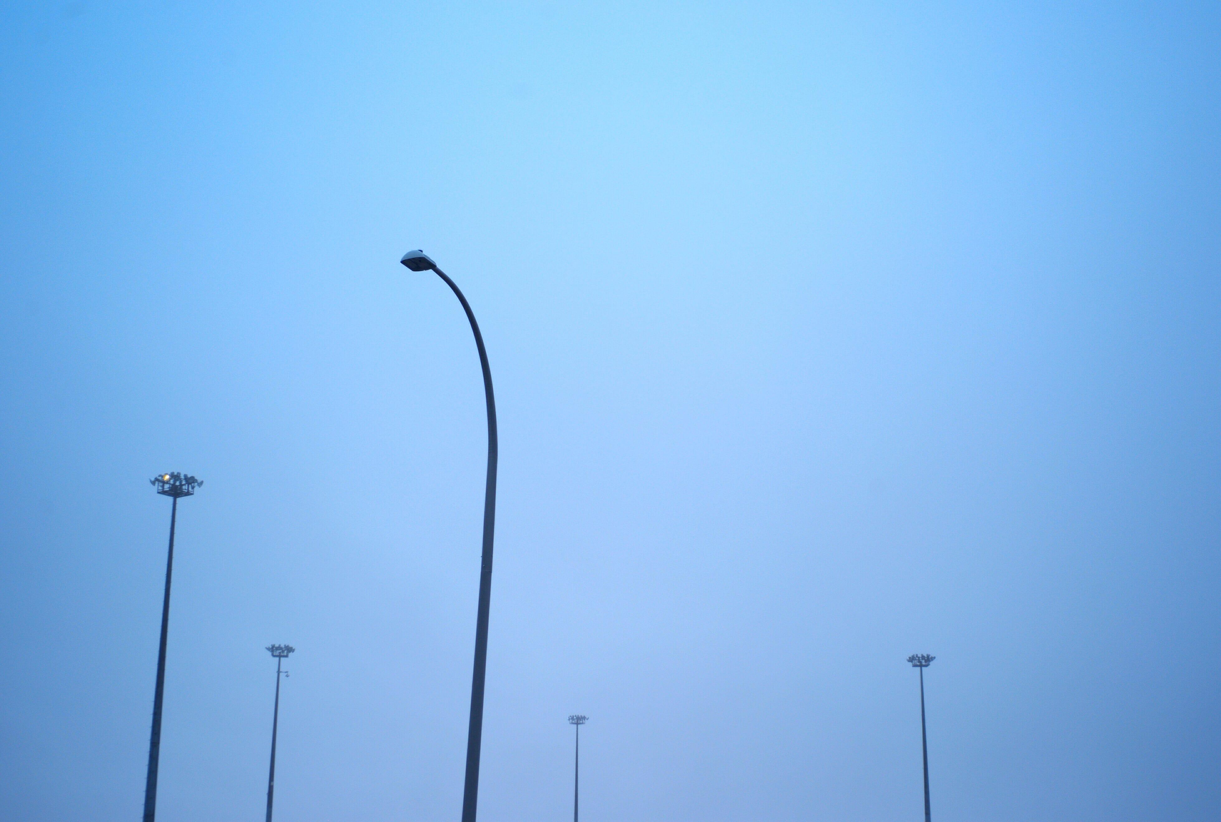 A photograph depicting Port Parking Lot Lights in Saint John