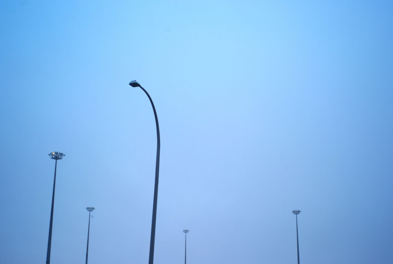 Click thumbnail to see details about photo - Port Parking Lot Lights in Saint John Photograph
