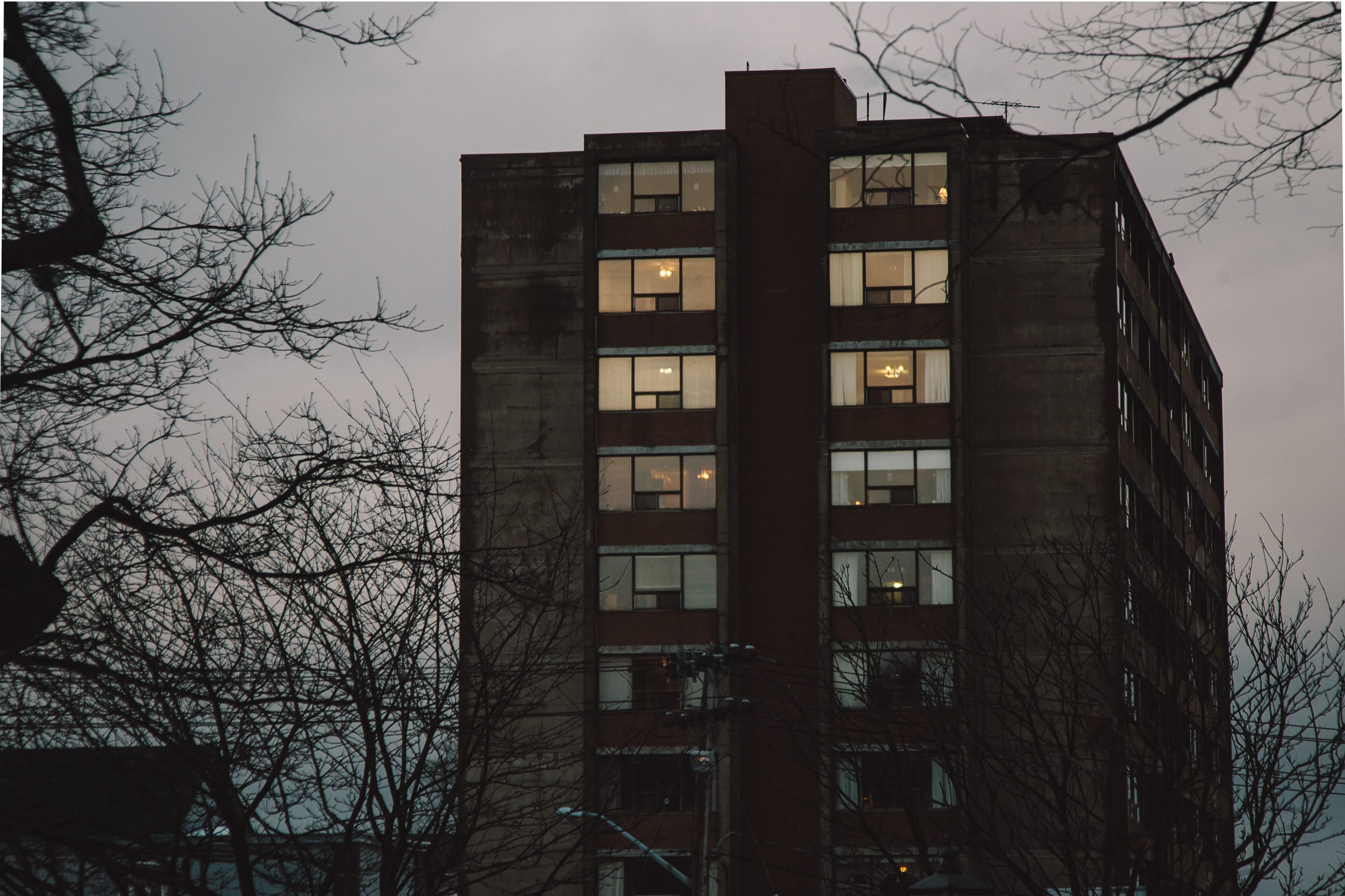 A photograph depicting Prince Edward Square Apartments