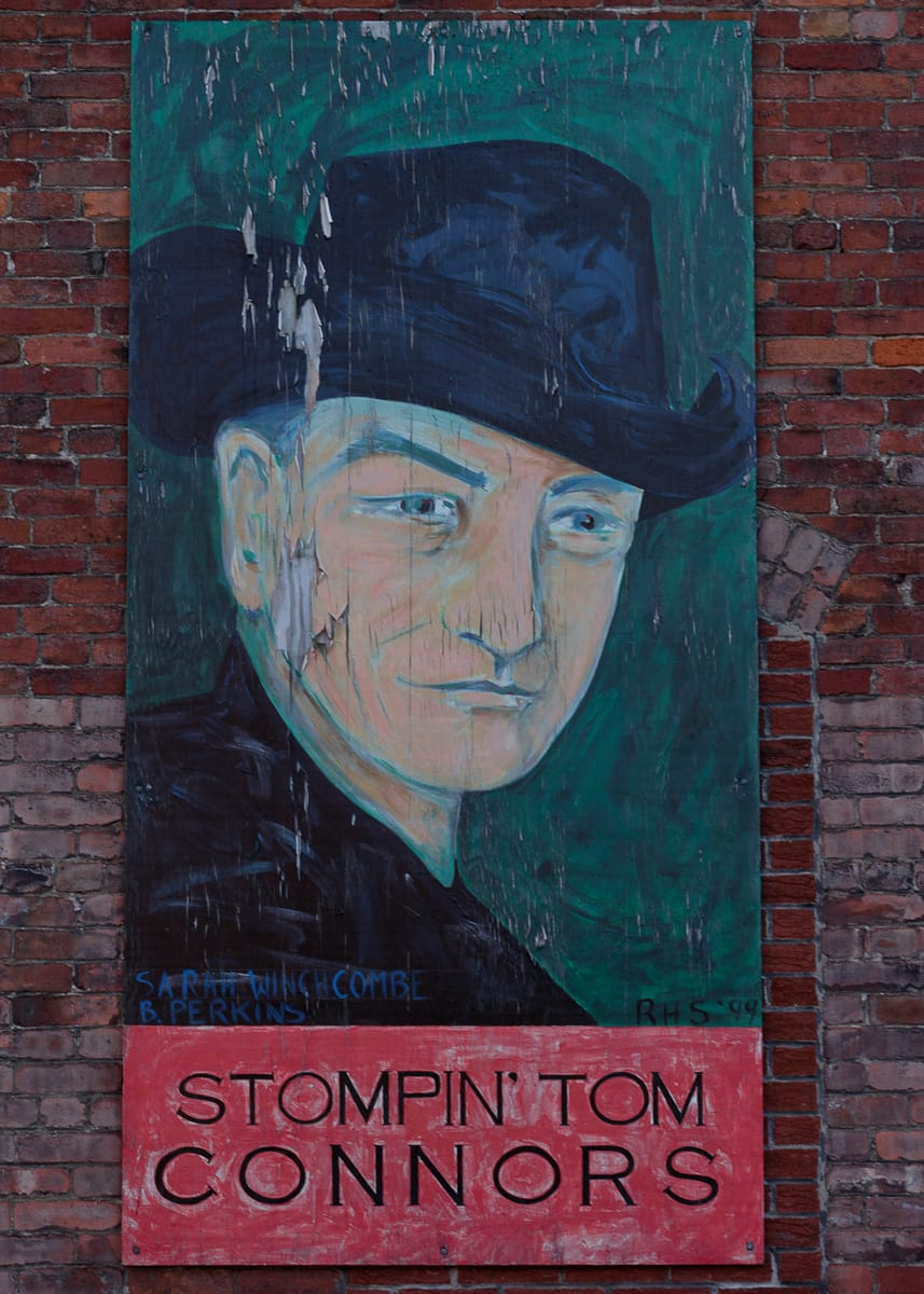 A photograph depicting Saint John Famous Saint John Stompin Tom Connors