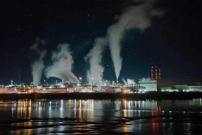 Saint John Irving Paper Mill Night Photograph