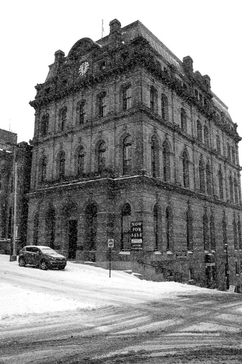Click thumbnail to see details about photo - Saint John Prince William Street Snowing Photograph