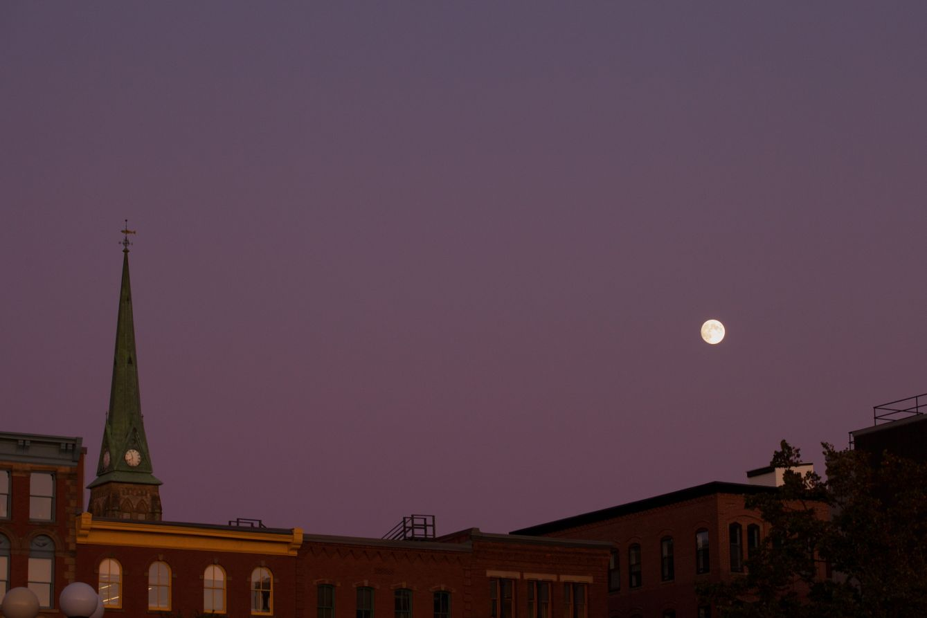Click thumbnail to see details about photo - The Moon Over Prince William Street Photograph